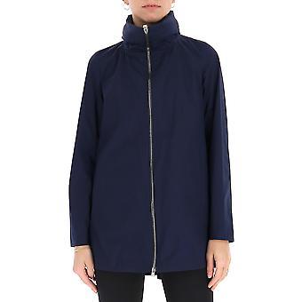 Herno Gc0282d12308s9201 Women's Blue Nylon Outerwear Jacket