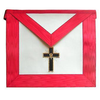 Masonic scottish rite apron - aasr - 18th degree - knight rose-croix - latin cross