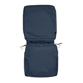 Accessoires classiques Montlake Fadesafe Chair Cushion Cover, Heather Indigo, 44L X 20W X 3T (60-437-015501-Rt)