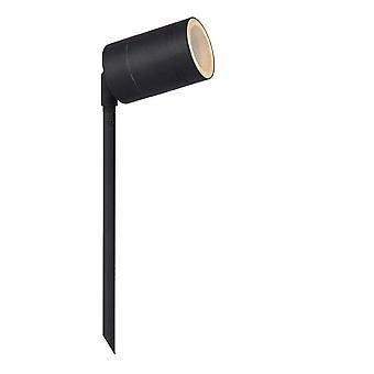 Lucide Arne-LED moderne runde stål Svart Hage Spotlight