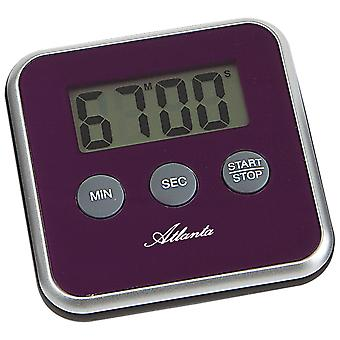 Atlanta 239/8 Short TimePiece Atlanta Digital Purple com Magnet Kitchen Timer