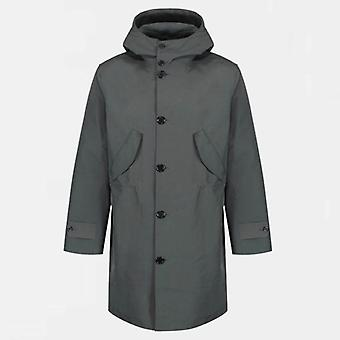 Hancock hand made vulcanised raincoat article 67 - the shore - black