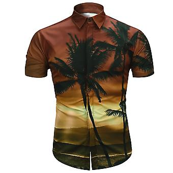 Allthemen Men es Short Sleeve Shirt 3D Shirt Hawaii Beach Short Shirt