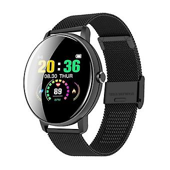 Lige Q5 Plus Sports Smartwatch Fitness Sport Activity Tracker Smartphone Watch iOS Android iPhone Samsung Huawei Black Metal