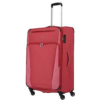 travelite Jakku Trolley L, 4 Rollen, 79 cm, 90  L, Rot
