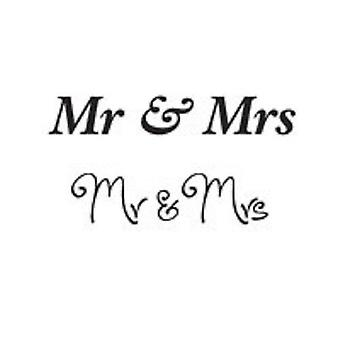 Woodware Clear Mini Stamp – Mr & Mrs