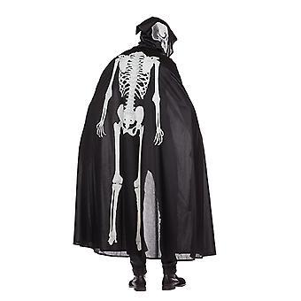 Scheletro di incandescente scheletro del Capo costume Halloween Cape