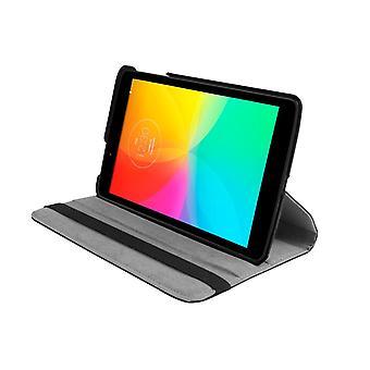 PU kožený kryt puzdra 360 Rotujúce pre LG G Pad 8.0 V480 8&[Čierna]