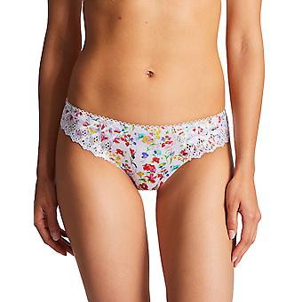 Aubade PY22-1 Mujeres y apos;s Bahia & Moi Prairie Multicolor Floral Bordado Knickers Panty Full Brazilian Brief