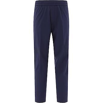 Acne Studios Bk0233darkblue Men's Blue Cotton Pants
