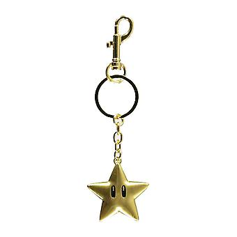 Super Mario Keyring Keychain Star logo new Nintendo Official metal