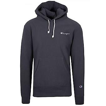 Champion Reverse Weave Navy Blue Hooded Sweatshirt