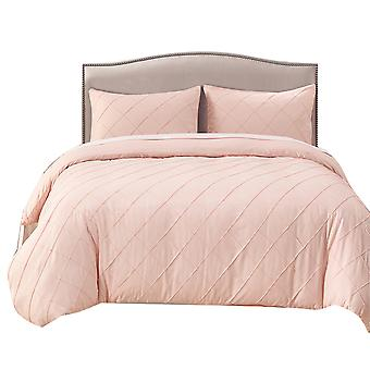 YANGFAN Lattice Pattern Ultra Soft Microfiber Quilt Cover Bedding Set