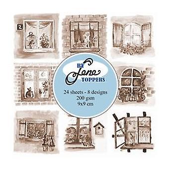Par Lene Toppers Windows Sepia