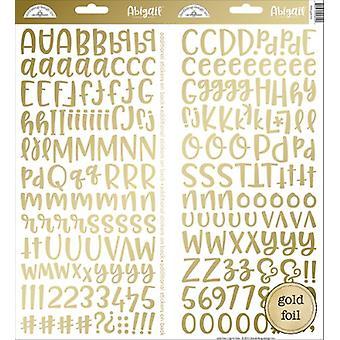 落書きバグデザインゴールド箔アビゲイルステッカー