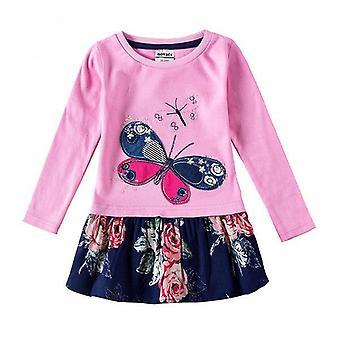 Lässige Blumenstickerei Mädchen Kleid, Hase Ohren Motiv, Säugling