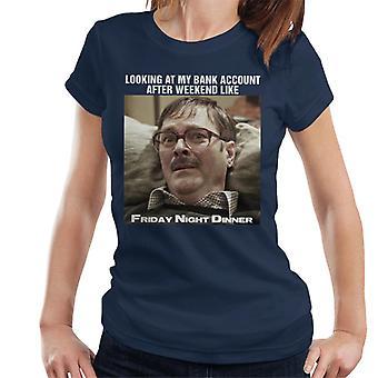 Friday Night Dinner Sad Jim Meme Women's T-Shirt