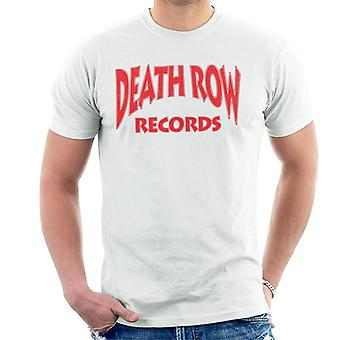 Death Row Records Logo T-Shirt Rood mannen
