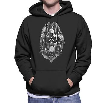 Assassins Creed 10 Years Of Characters Men's Hooded Sweatshirt