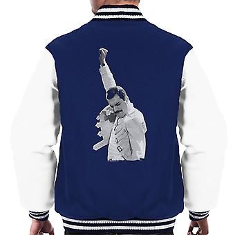 Freddie Mercury Of Queen Live In Newcastle 1986 Men's Varsity Jacket