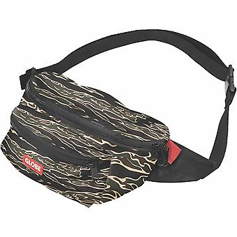 Globe Bar Waist Pack Unisex Walking Belt Bag in Black Camouflage