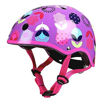 Micro Scooters Floral Dot Deluxe Helmet