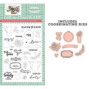Carta Bella Beauty All Around Die & Stamp Set