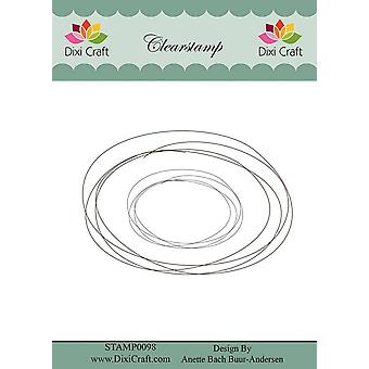 Dixi Craft Clear Stamps Hand Drawn Oval