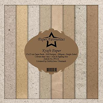 Dixi Craft Kraft Papers 6x6 Inch Paper Pack