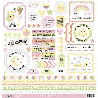 Doodlebug Design Bundle of Joy To & Że naklejki