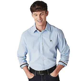 Crew Clothing Mens Crew Micro Gingham Long Sleeve Shirt