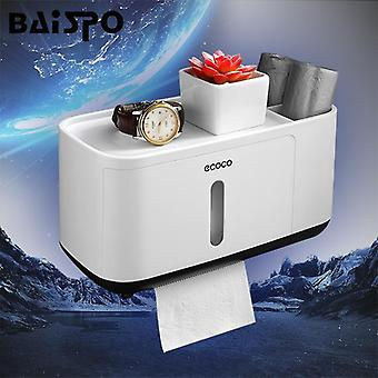 Home Portable Waterproof Wall-mounted Tissue Box Toilet Paper Dispenser -