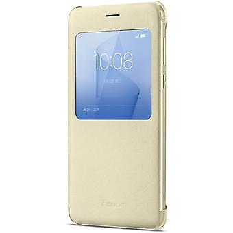 Huawei View Flip Cover para Honor 8 ouro