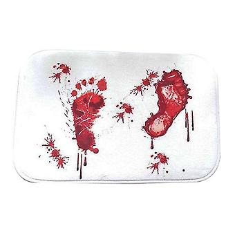 Bath Mat Scare Your Friends Bloody Footprint Bath Mat - Non Slip Bathroom Rug