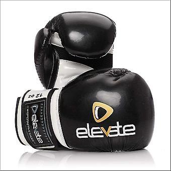 Elevate airtec boxing gloves - black white
