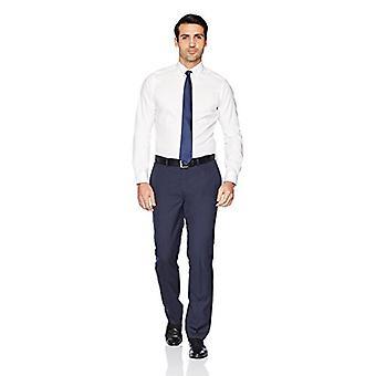 Abotoado men's fit fit fit camisa de vestido sólido não-ferro (Não...