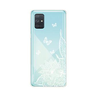 Hull For Samsung Galaxy A71 Soft Mandala Flower And White Butterflies