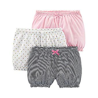 Simple Joys by Carter's Girls' 3-Pack Bloomer Short, White/Dot/Pink, 12 Months