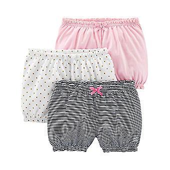أفراح بسيطة من قبل كارتر & apos;ق الفتيات & apos; 3-حزمة بلومر قصيرة, أبيض / دوت / الوردي, 12 شهرا