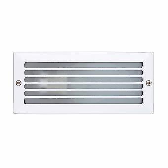 1 Lichte buitenuitspareerde muur licht wit IP44, E27