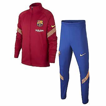 2020-2021 Barcelona Nike Little Boys Tracksuit (Roxo) - Crianças