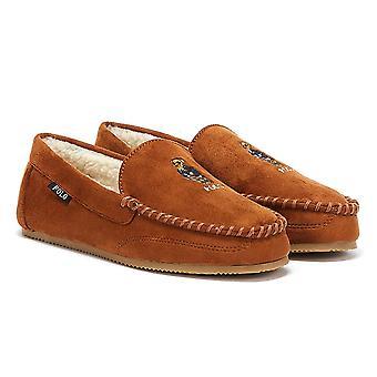 Ralph Lauren Dezi IV Bear Mens Brown Slippers