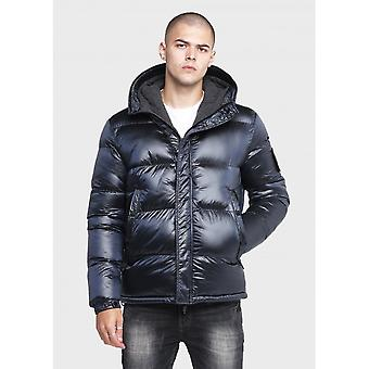 883 Politie Anglo Puffer Hooded Navy Jacket