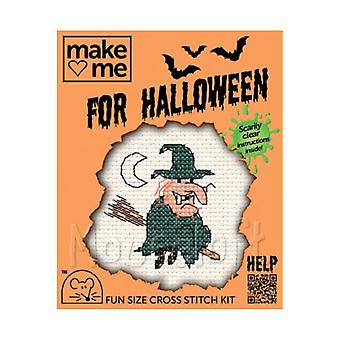 Witch - Make Me for Halloween Small Counted Cross Stitch Kit