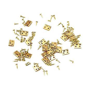 20pcs de mini charnière métallique pour Doll House Miniature