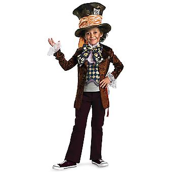 Mad Hatter Deluxe Disney Alice In Wonderland Classic Fairytale Boys Costume