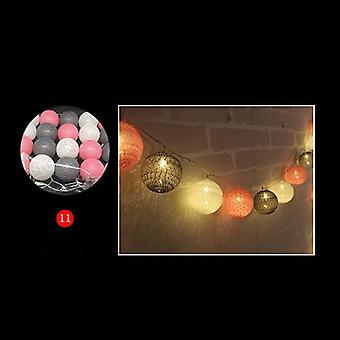 3m Led Baumwolle Ball Girlande Lichter String-Fee Lichter Dekoration Set 4