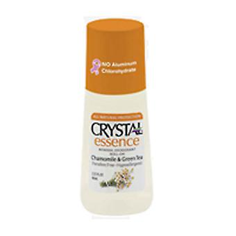 Crystal Body Deodorant Mineral Deodorant Roll On, Chamomile & Green Tea 2.25 oz
