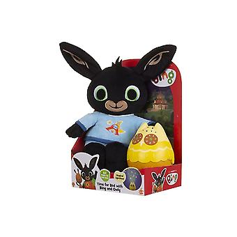 bing bedtime bing soft toy with musical owly nightlight with sounds for ages 10