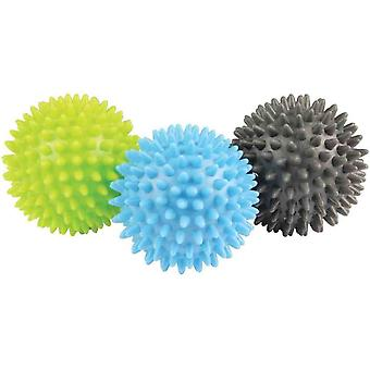 Fitness Mad spikey Massage Ball Set von 3 Trigger Bälle Selbstversorgung Massage